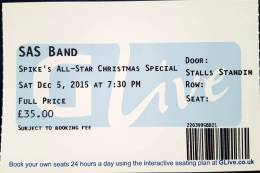 Ticket stub - Roger Taylor live at the G Live, Guildford, UK (with SAS Band) [05.12.2015]