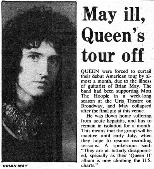 Newspaper article on Brian's illness
